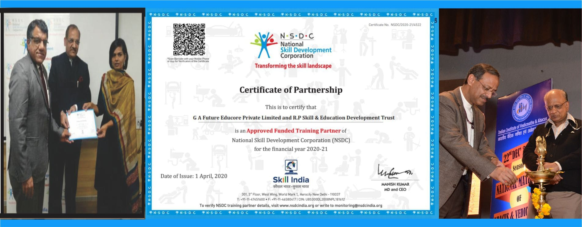 NSDC Certificate of Partnership